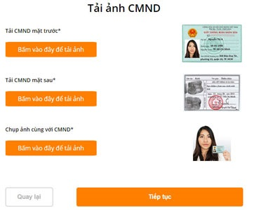upload cmnd vay tiền oneclickmoney