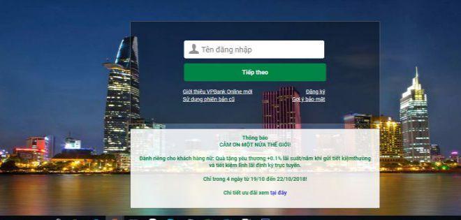 Tra cứu số tài khoản ngân hàng VpBank Online