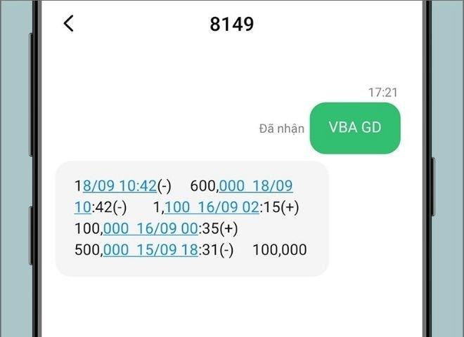 sms banking aribank